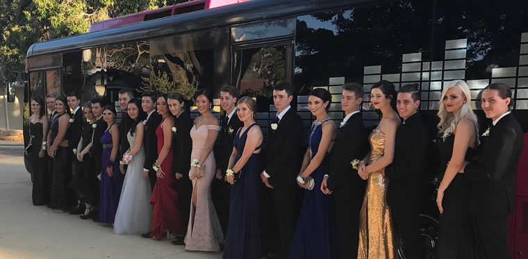 perth party bus school ball