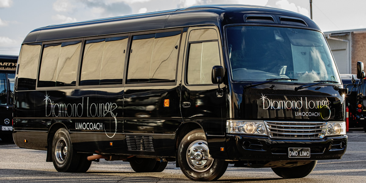 14 seater luxury party bus perth